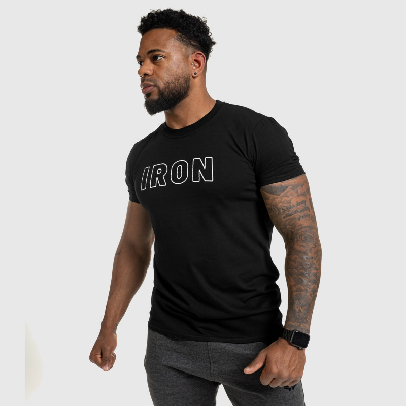 Férfi fitness póló IRON, fekete-9