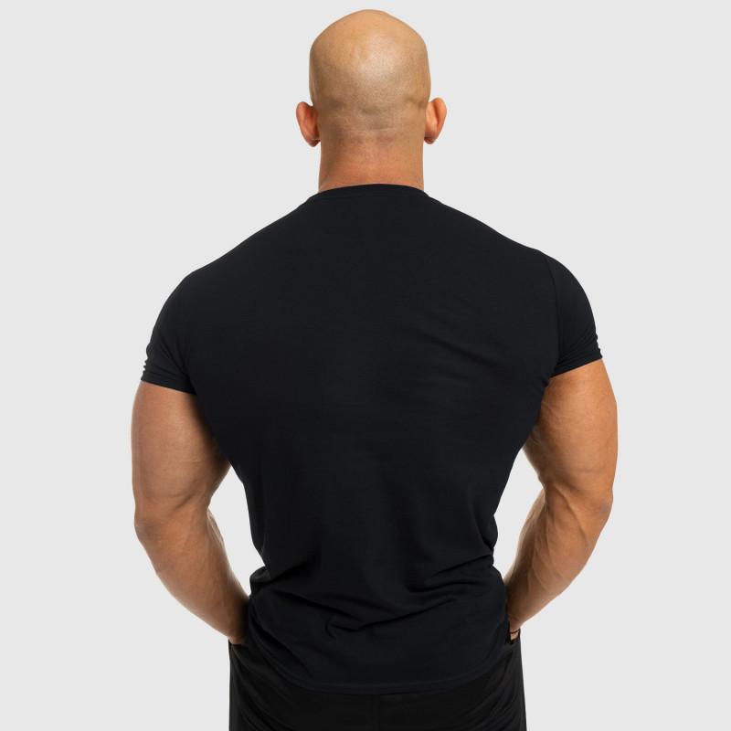 Férfi fitness póló Iron Aesthetics Be Stronger, fekete-2
