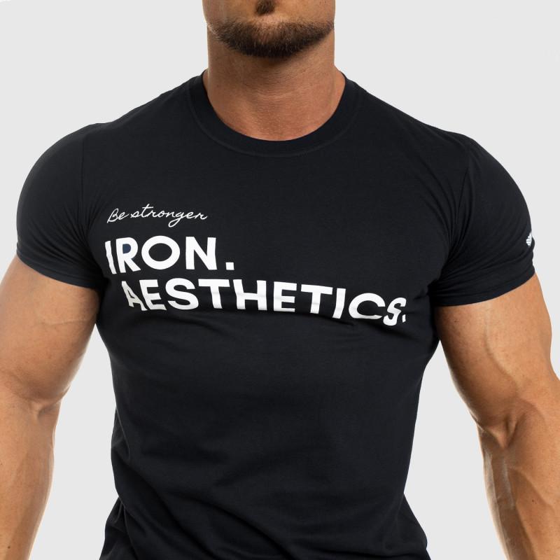 Férfi fitness póló Iron Aesthetics Be Stronger, fekete-5