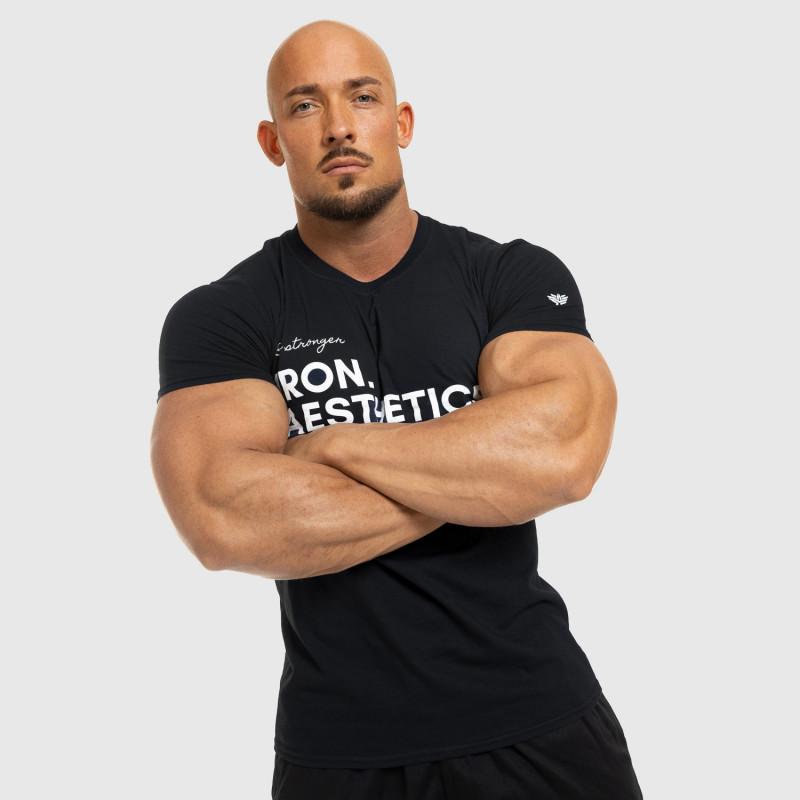 Férfi fitness póló Iron Aesthetics Be Stronger, fekete-7