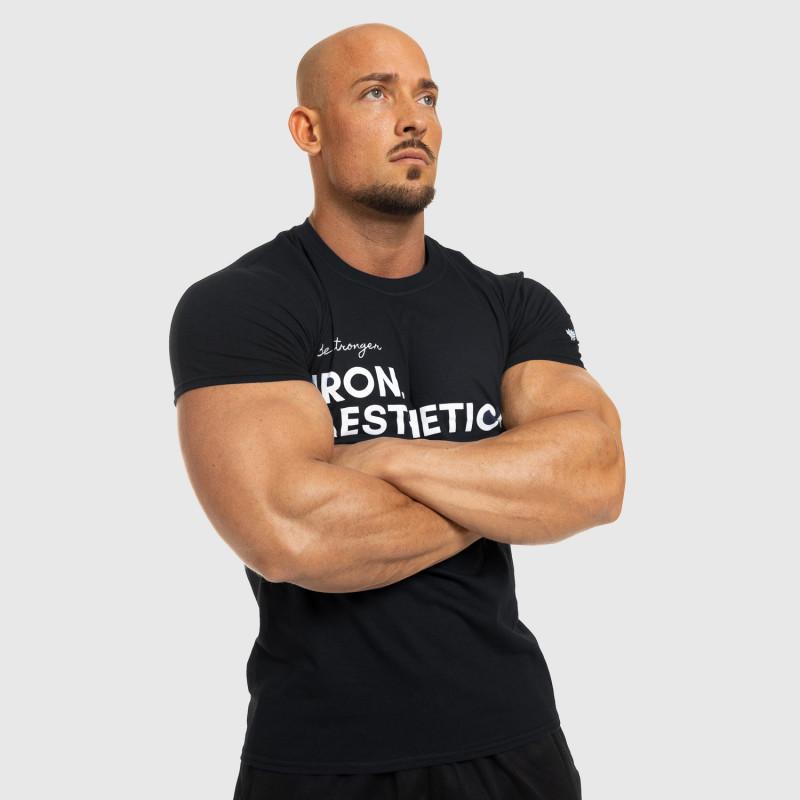 Férfi fitness póló Iron Aesthetics Be Stronger, fekete-8