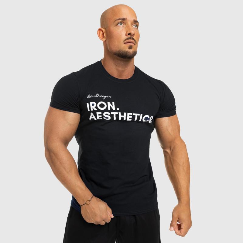 Férfi fitness póló Iron Aesthetics Be Stronger, fekete-9