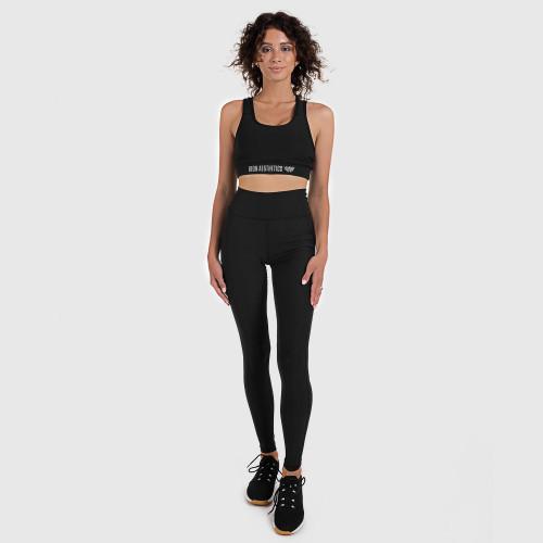 Női fitness szett Iron Aesthetics Pocket, fekete