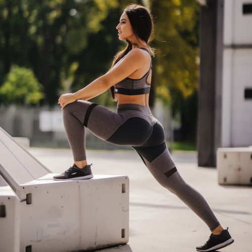 Női fitness szett Iron Aesthetics Heart, szürke