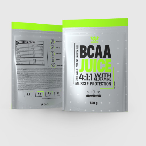 BCAA Juice 4:1:1 + Glutamin 500 g - Iron Aeshtetics