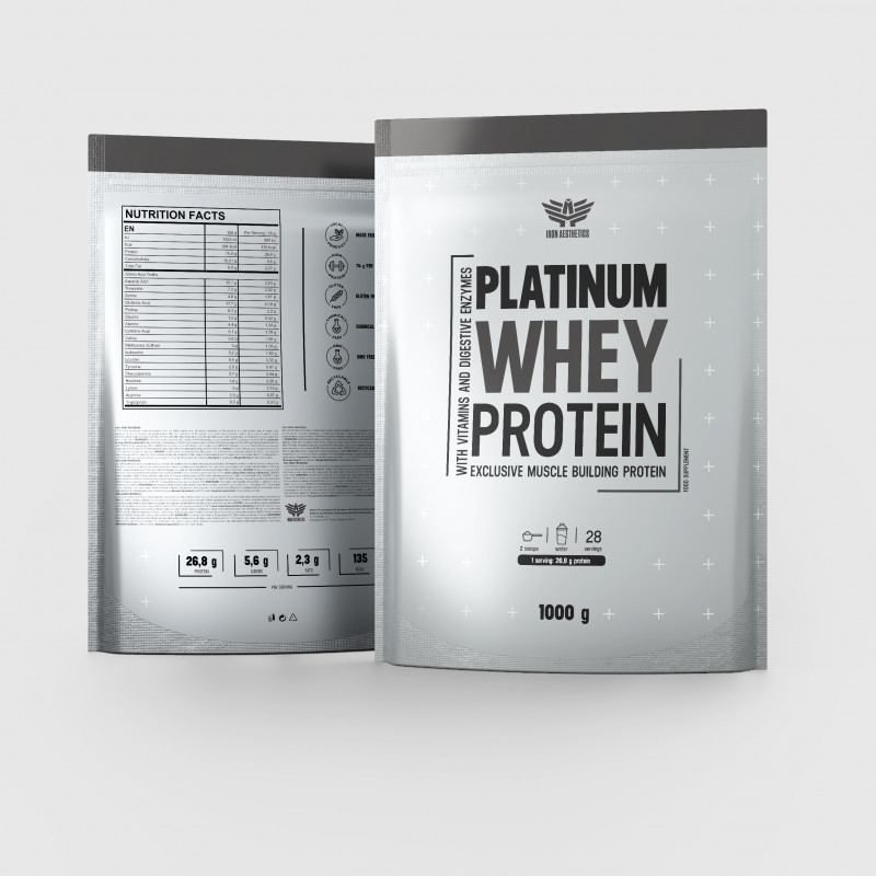 Platinum Whey Protein 1000g - Iron Aesthetics-2