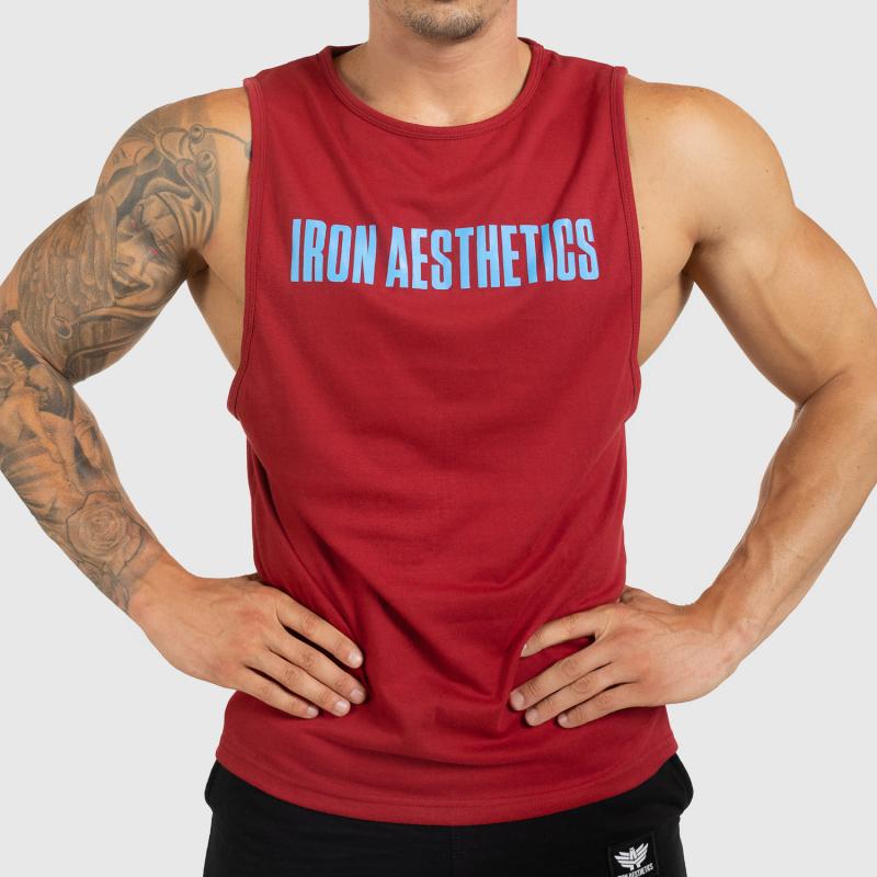 Férfi fitness ATLÉTA Iron Aesthetics Signature, bordó-1