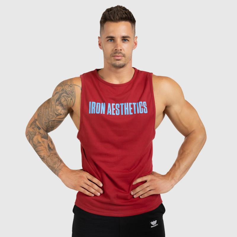 Férfi fitness ATLÉTA Iron Aesthetics Signature, bordó-3