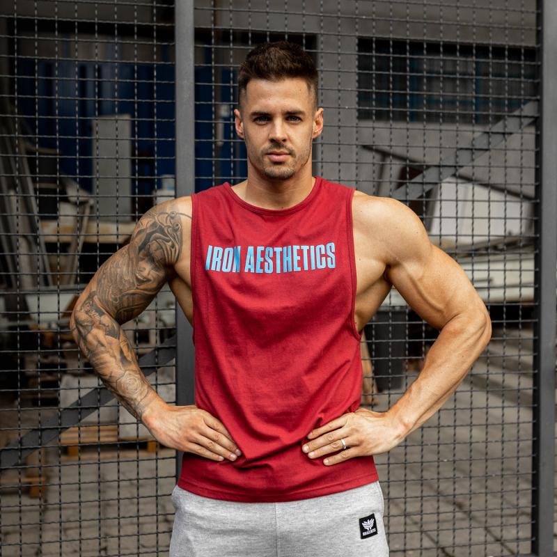 Férfi fitness ATLÉTA Iron Aesthetics Signature, bordó-4