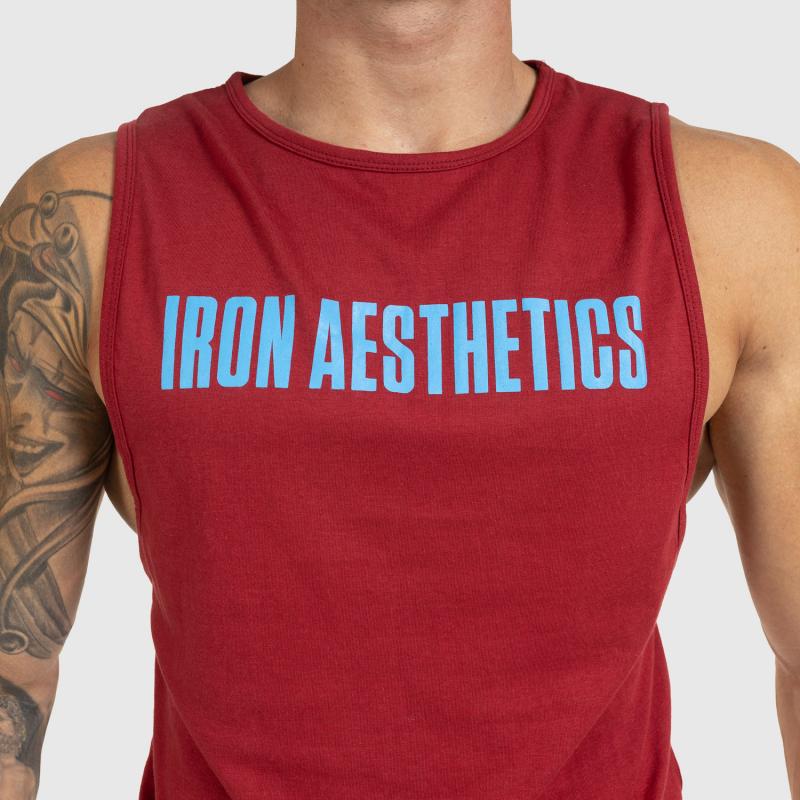 Férfi fitness ATLÉTA Iron Aesthetics Signature, bordó-5