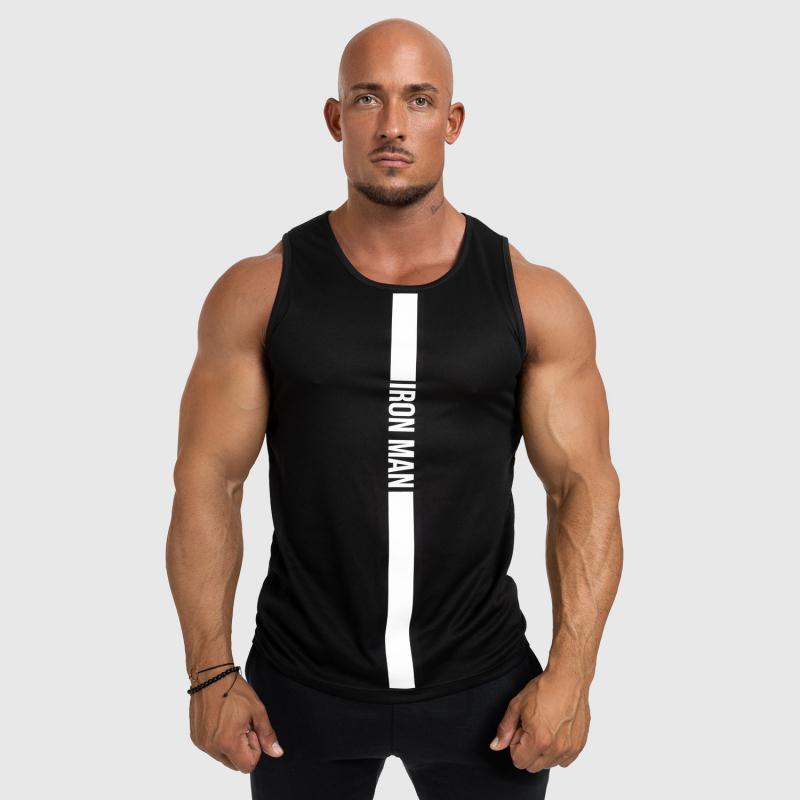 Férfi fitness ATLÉTA Iron Aesthetics Iron Man, fekete-3