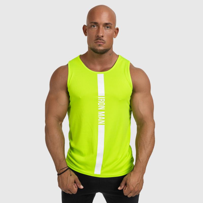 Férfi fitness ATLÉTA Iron Aesthetics Iron Man, Neon Green-3