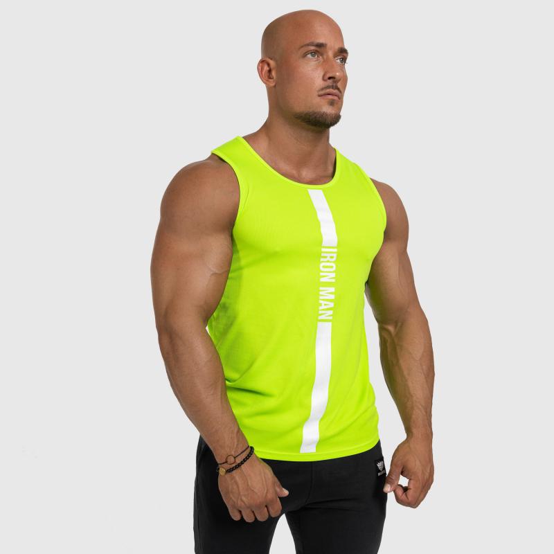Férfi fitness ATLÉTA Iron Aesthetics Iron Man, Neon Green-5
