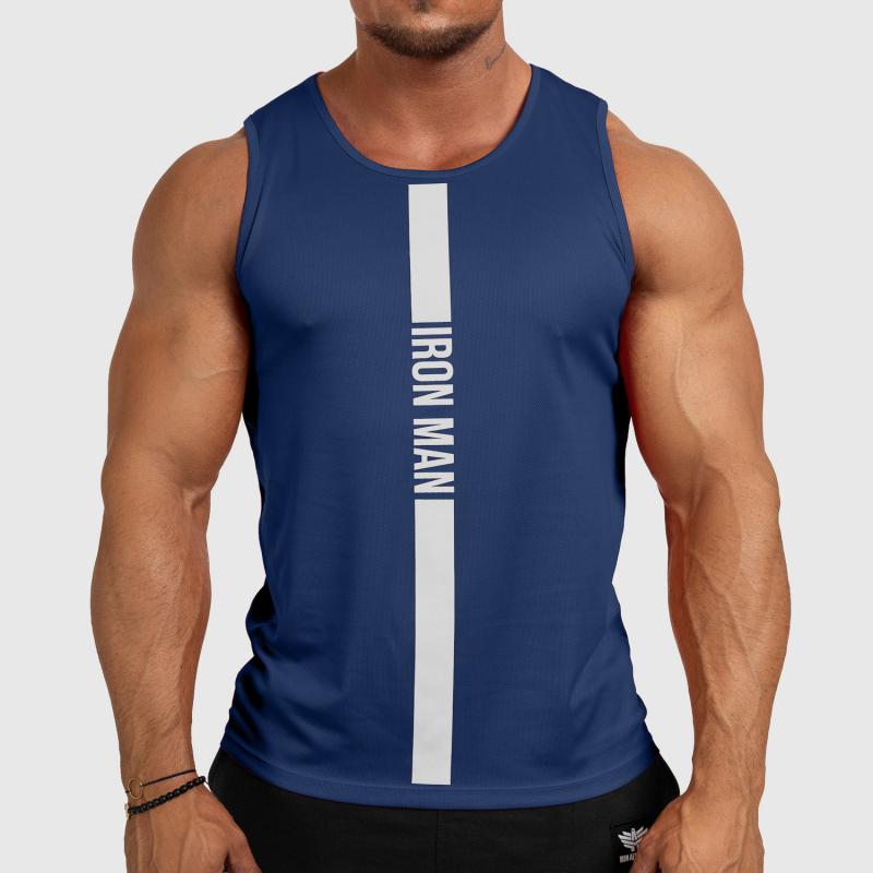 Férfi fitness ATLÉTA Iron Aesthetics Iron Man, navy-1