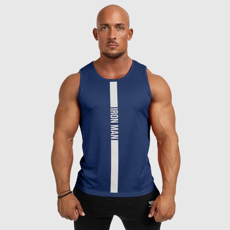 Férfi fitness ATLÉTA Iron Aesthetics Iron Man, navy-5