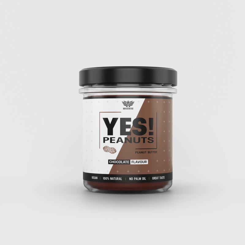 YES! Peanuts csokoládés mogyoróvaj 340 g - Iron Aesthetics-1