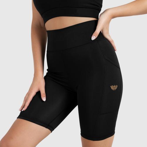 Női rövidnadrág Iron Aesthetics Pocket, fekete