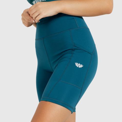 Női rövidnadrág Iron Aesthetics Pocket, smaragd